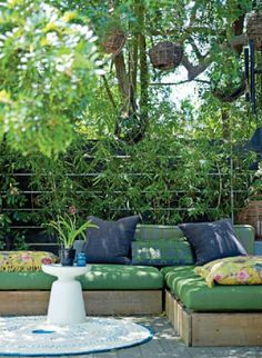 outdoor sectional space