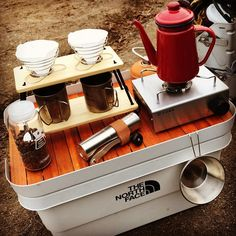 Auto Camping, Camping Cart, Camping Box, Camping Coffee, Camping Style, Camping Hacks, Outdoor Camping, Coffee Carts, Coffee Shop