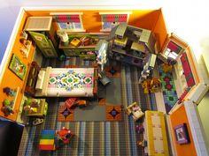 This room.  Yep.    A House for a Teddy Bear: A LEGO® creation by Leda Kat =^..^= : MOCpages.com