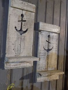 Set of TWO Rustic Anchor Wall Hangings Looking to add some texture to your space? Whether you live in the county or your home is in the city, you don't have to live in a barn to embrace rustic country