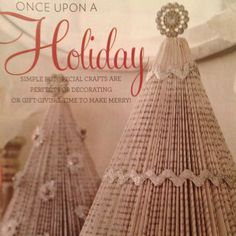 Do it yourself Christmas trees made from book pages