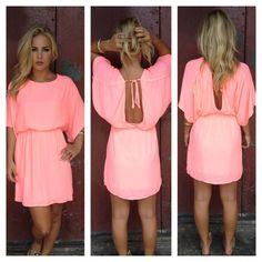 Neon Pink Empress Mini Dress