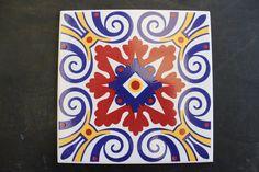 Vintage Printed Ceramic Tiles (6'' X 6'') by GoBr on Etsy