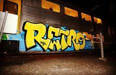 RETRO @spraydaily  _______________________ #madstylers #graffiti #graff #style #colorful #graffporn  #sprayart #graffitiart