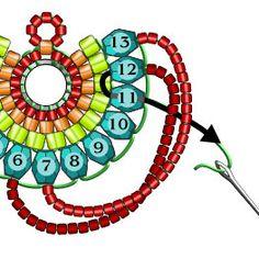 Materials: Miyuki Triangle Matte Silverlined Cobalt - 1 tube T Beading Patterns Free, Seed Bead Patterns, Beaded Earrings Patterns, Bead Loom Bracelets, Bracelet Crafts, Beading Projects, Beading Tutorials, Beaded Ornaments, Bead Jewellery