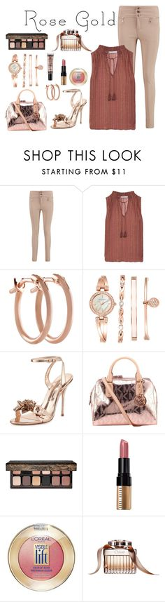 """Looking Rosey"" by stephaniefb ❤ liked on Polyvore featuring Boohoo, Chelsea Flower, Pori, Anne Klein, Sophia Webster, Michael Kors, Laura Mercier, Bobbi Brown Cosmetics and L'Oréal Paris"