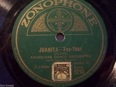 ARCADIANS DANCE ORCHESTRA  Couldn t You Have Waited? / Juanita  Zonophone 5215