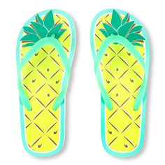 cb275922af7b Girls Neon Pineapple Graphic Flip Flop - Blue - The Children s Place Kid  Shoes
