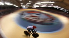 Victoria Pendleton of Great Britain sets a new Olympic record in the women's Sprint Track Cycling qualifying