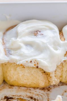 """***Cinnamon Roll Buns ~ soft sweet bun with the best cream cheese icing and they always disappear fast. As my sister puts it, they are """"better than Cinnabon! Cinnamon Rolls From Scratch, Cinnamon Roll Icing, Sweet Buns, Cinnabon, Bread Bun, Cream Cheese Icing, Lemon Recipes, Loaf Recipes, Savoury Cake"""