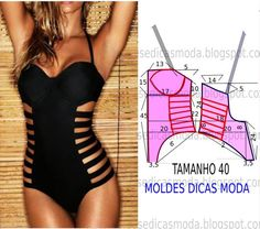 DIY - molde, corte e costura - Marlene Mukai Underwear Pattern, Lingerie Patterns, Sewing Lingerie, Clothing Patterns, Dress Patterns, Sewing Patterns, Diy Clothing, Sewing Clothes, Fashion Sewing