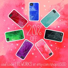 20% off all prints and zodiac iphone cases this weekend! #zodiac #sale #fireworks