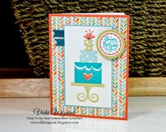 A colorful and playful birthday card with the CTMH Build-a-Cake stamp set and Hopscotch