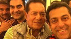 Salman's selfie time with father Salim and bros Arbaaz & Sohail