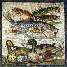 Ducks and Fish (1st cent.AD)- Musée Condé, Chantilly, France. CLICK to enlarge