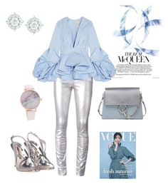 Azzurro by carolinabeauperthuy on Polyvore featuring polyvore, fashion, style, Johanna Ortiz, Étoile Isabel Marant, Sophia Webster, Chloé, Mémoire and clothing