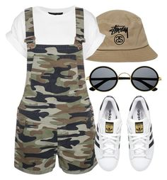 """""""Untitled #34"""" by africanqueen000 ❤ liked on Polyvore featuring Stussy, Topshop, adidas Originals and Retrò"""
