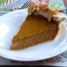Homemade pumpkin pie @ allrecipes.co.uk