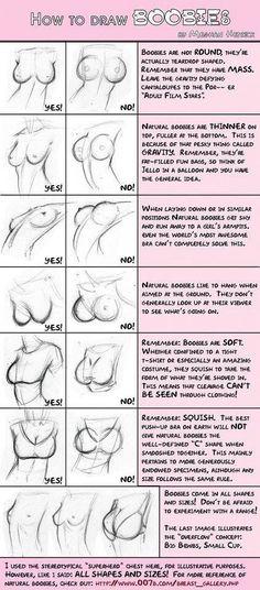 Como desenhar seios