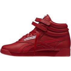 Reebok Freestyle Hi Spirit - Excellent Red   White 9.5 Reebok Freestyle be73eaa36