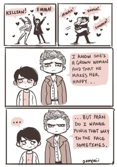 Very accurate description of David's off screen comments during a CaptainSwan moment XDDD