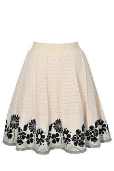 #Lily Boutique - #Lily Boutique Swiss Miss Beige and Black A-Line Knit Skirt - AdoreWe.com