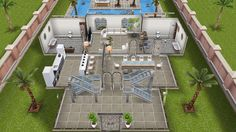 Beach side mansion #sims #freeplay house design - inside view first floor