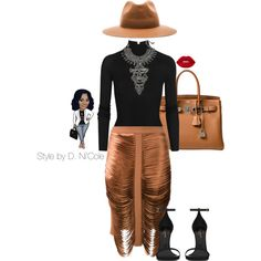 A fashion look from March 2017 by stylebydnicole featuring T By Alexander Wang, Dion Lee, Yves Saint Laurent, Hermès, DYLANLEX and Harmony