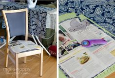make happy: dining chair slipcovers