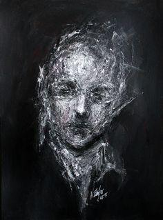 Portrait 13.05.15 Acrylic on 300g paper. Size A3. Original for sale.  #painting #art #abstract #portrait