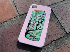 Arizona Tea Case by Good Vibe Cases. comes in plastic and it is white. If you have a different phone not listed above, contact me, and I can make it happen!  If you would like a rubber case for the iPhone 4/4S either contact me, or you can check out my rubber case listing, then select which desig...