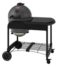 Char-Griller, Akorn Kamado Kooker 22 in. Charcoal Grill in Grey with Cart, 6520 at The Home Depot - Tablet Akorn Grill, Egg Grill, Kamado Grill, Grill Grates, Barbecue Grill, Kamado Cooker, Barbacoa, Best Charcoal Grill, Clay Oven