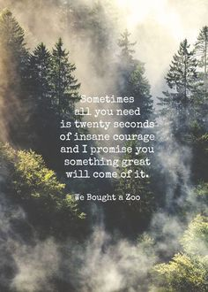 Sometimes all you need is 20 seconds of insane courage and I promise something great will come of it. www.gracetheday.com