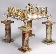Elevated Marble Chess Set
