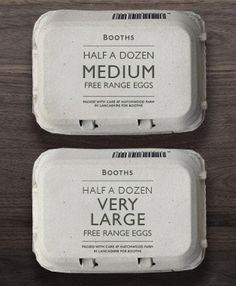 free range eggs packaging by smithandvillage.com for Booths