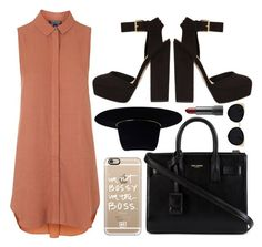 """""""♡"""" by brenndha ❤ liked on Polyvore featuring Topshop, Yves Saint Laurent, Casetify, Zimmermann, Una-Home, GetTheLook, StreetStyle, gorgeous, Luxe and HowToWear"""