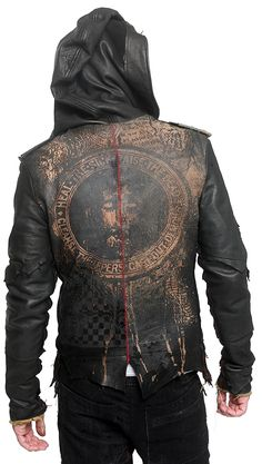 Deluxe Leather Hooded Jacket (by Junker Designs) – Yeah. I, seriously, want this jacket. Fashion Mode, Mens Fashion, London Fashion, Mode Punk, Gothic Mode, Leather Jacket With Hood, Leather Jackets, Post Apocalyptic Fashion, Look Street Style