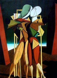 "Giorgio de Chirico : "" Ettore e Andromaca "" , olio su tela . Italian Painters, Italian Artist, Images D'art, Classical Realism, Famous Artwork, Inspiration Art, Traditional Paintings, Art Moderne, Art Design"