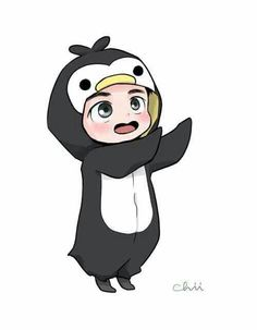 Kyungsoo the Little Penguin -EXO Chibi Exo, Anime Chibi, Exo Anime, Kyungsoo, Chanyeol, Kaisoo, Chanbaek, Exo Cartoon, Anime Bebe