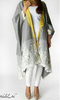 Dalal Maizi For more abaya… Abaya Fashion, Muslim Fashion, Kimono Fashion, Modest Fashion, Indian Fashion, Boho Fashion, Womens Fashion, Fashion Trends, Fashion Design