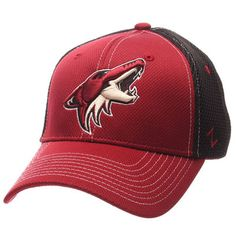 Men's Zephyr Garnet/Black Arizona Coyotes Rally Spacer Mesh Flex Hat