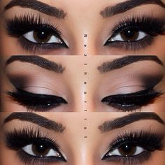 Love the smudged shadow liner under the eye and the black liner in the wet area!