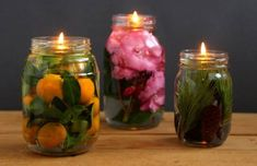 Magical pot Mason lampe à huile Old Candle Jars, Old Candles, Glass Candle Holders, Candle Wicks, Floating Candles, Pot Mason Diy, Mason Jar Crafts, Diy Simple, Easy Diy