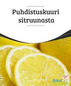 Puhdistuskuuri sitruunasta   Sitruunaan perustuva #puhdistuskuuri on loistava keino huuhtoa pois #kuona-aineet ja myrkyt kehosta, ja samalla tehostaa #laihtumista.  #Luontaishoidot