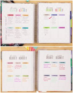"""Make yourself accountable of your goals by writing them down in this new """"Flag Your Future"""" section of the Erin Condren Life Planner. @erincondren #eclifeplanner"""