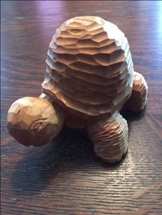 Turtle. Hand carved. Basswood. 5 inches.