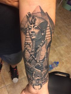 Egyptian tattoo by Valioska. Limited Availability at Salvation Tattoo Studio. Lion Tattoo Sleeves, Leg Tattoo Men, Best Sleeve Tattoos, Tattoo Sleeve Designs, Forearm Tattoos, Tattoo Designs Men, Body Art Tattoos, Cool Chest Tattoos, Cool Tattoos For Guys