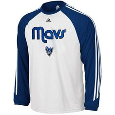 adidas Dallas Mavericks Laced Out 3-Stripe Long Sleeve T-Shirt - White  Dallas 7372ab4c7