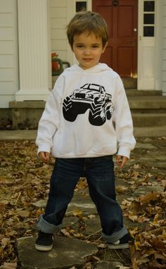 Hand stenciled design, custom pick your colors by sacerandsavive on Etsy Monster Truck Kids, Baseball Tee Shirts, Kids Wardrobe, Stencil Designs, Pick One, Creative Gifts, A Boutique, Colorful Shirts, Two By Two