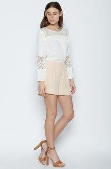 Wayward Silk Shorts - Light Apricot